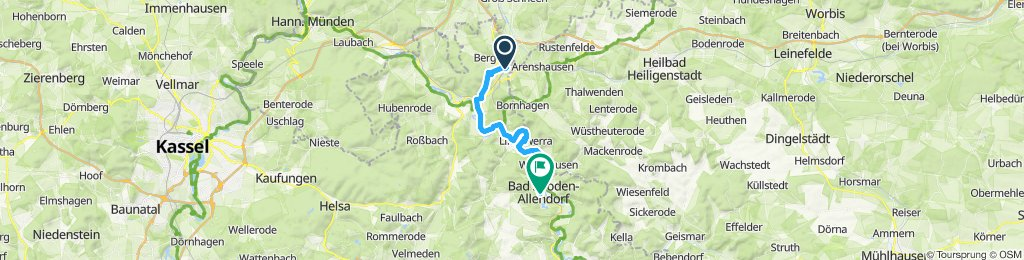 Gerade Fahrt in Eschwege