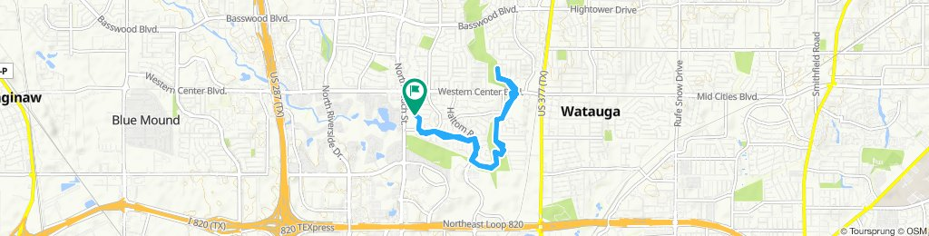Relaxed route in Haltom City