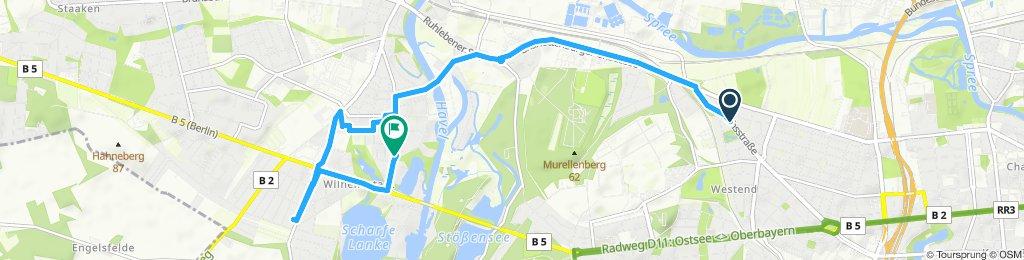 Route im Schneckentempo in Berlin