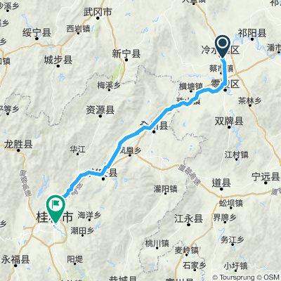 Ruta constante en 永州市