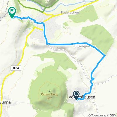 Route im Schneckentempo in Vach