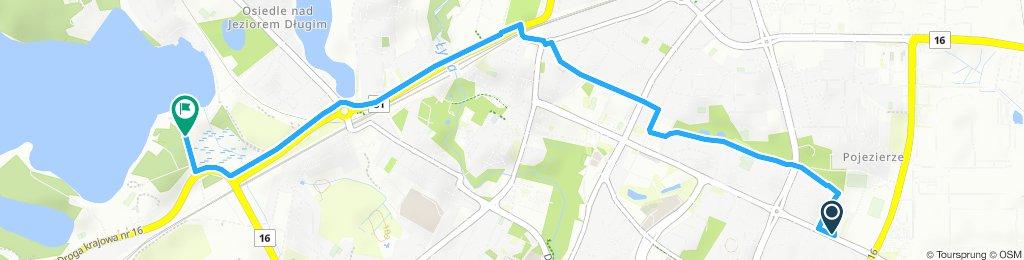 Itinéraire modéré en Olsztyn sa mère