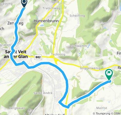 Gemütliche Route in St. Georgen am Längsee