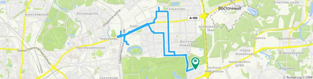 Велокурьерские поездочки по ВАО - Измайлово - Гольяново 12 08 2019
