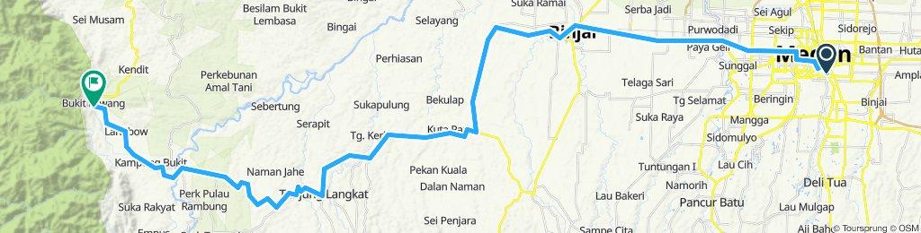 Sumatra-Java-Bali 01, Indonesien, Medan - Bukit Lawang, 90 km