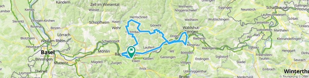 Gippingen - Albruck - Hottingen - Hornberg - Bergalingen