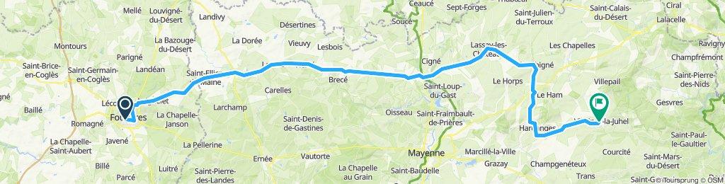 12.Fougères - Villaines-la-Juhel