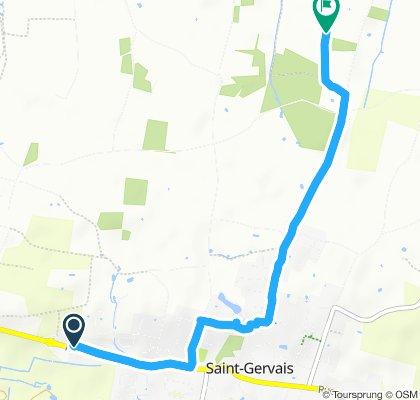 Tout droit à l'intérieur Saint-Gervais