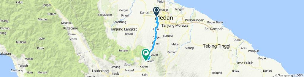 Sumatra-Java-Bali 02, Indonesien, Medan - Brastagi, 66 km