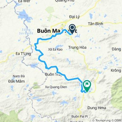 Buon Ma Thuot to Lake Lak