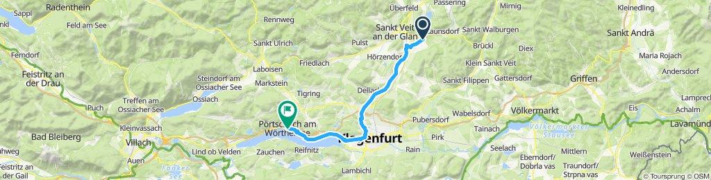Gerade Fahrt in Pörtschach am Wörther See