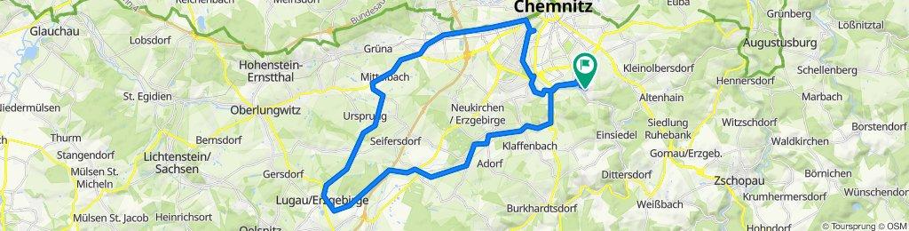 Gemütliche Route in Chemnitz