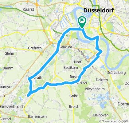 Route im Schneckentempo in Düsseldorf