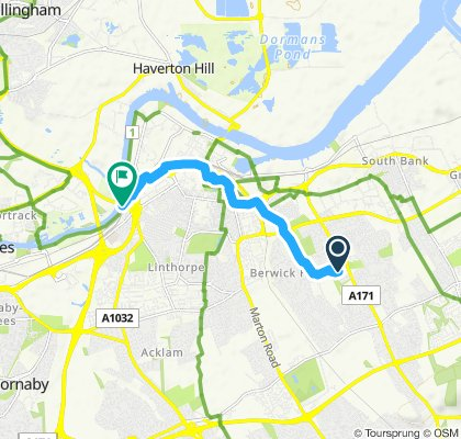 Moderate route in Middlesbrough