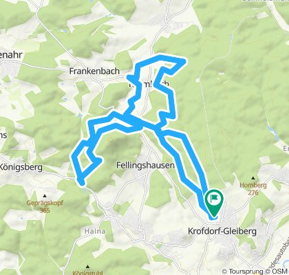 Relaxed route in Wettenberg