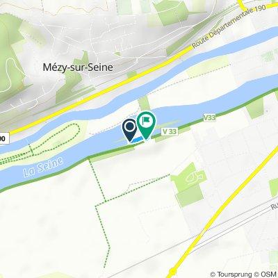 route blocked on veloroute. du Val de Seine - locked by vnf