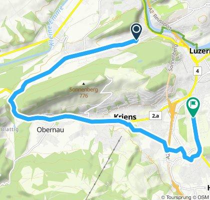 Ruta relajada en Lucerna