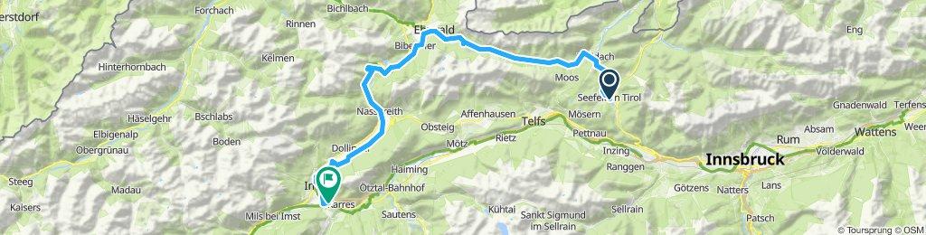 Seefeld-Leutascher ache-Ehrwald-Imst (through via Augusta)