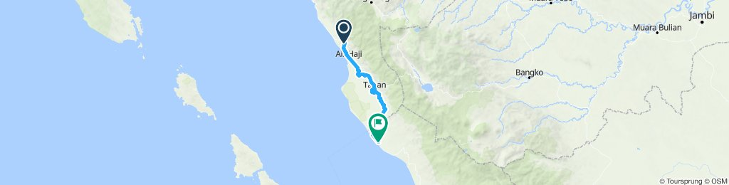Sumatra-Java-Bali 12, Indonesien, Balai Selasa - Mukomuko, 130 km