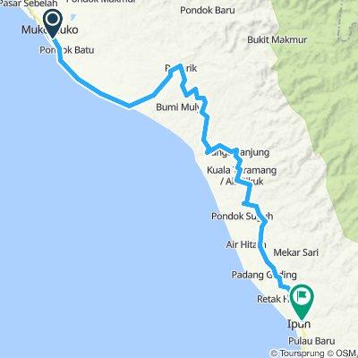 Sumatra-Java-Bali 13, Indonesien, Mukomoko - Ipuh, 102 km