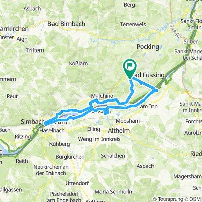 Kirchham - Frauenstein - Simbach Runde