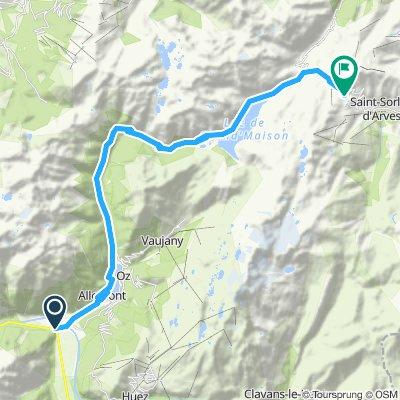 Rochetaille - Col de la Croic de Fer 28 km