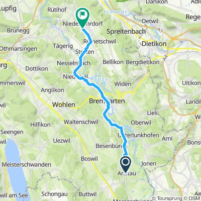 Langsame Fahrt in Niederrohrdorf
