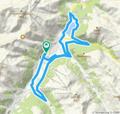 Einfache Fahrt in Davos Platz