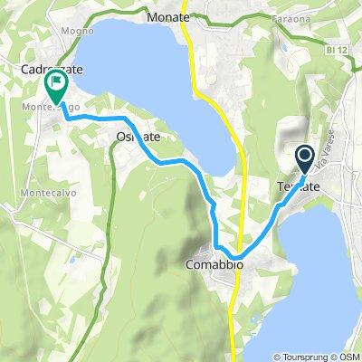 Route im Schneckentempo in Cadrezzate