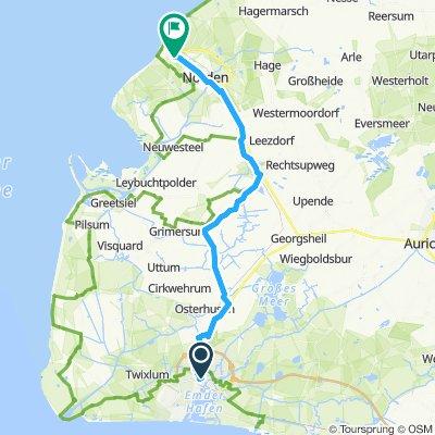 Emden Norddeich kurze Variante