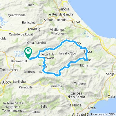 Planes, Gallinera, Pego, Sagra, Tormos, Orma, Lagnar, Castell de castells, Tollos, Planes