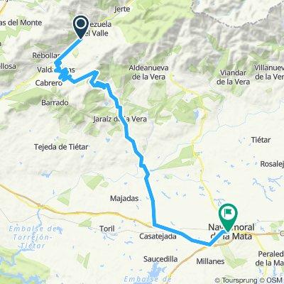 2020-2 opción-5 etapa-Navaconcejo-Valdastillas-Garganta la Olla-Jaraiz de la vera-Casatejada-Navalmoral