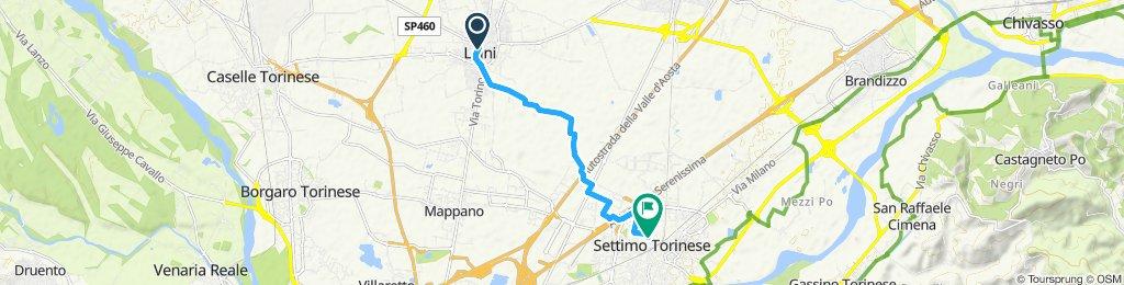 Giro a velocità costante in Settimo Torinese