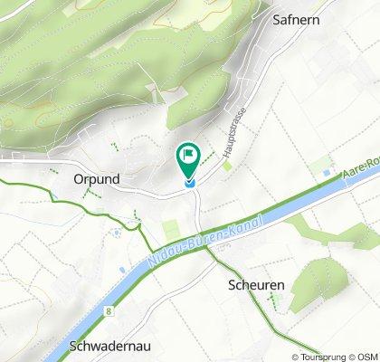 Route im Schneckentempo in Orpund