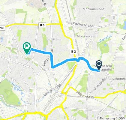 Route im Schneckentempo in Leipzig