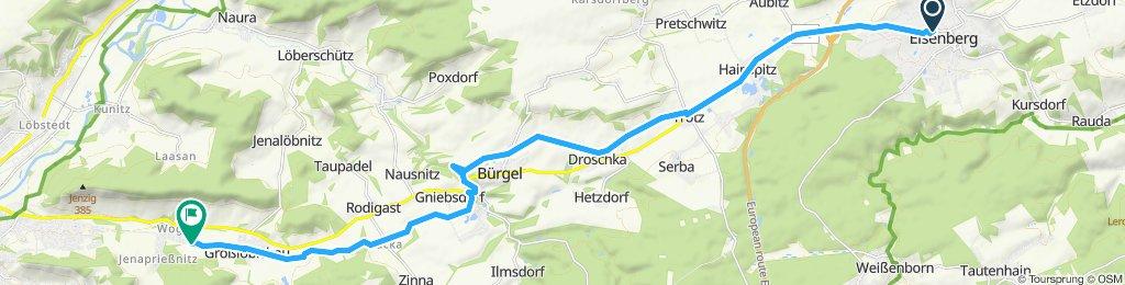Gerade Fahrt in Jena