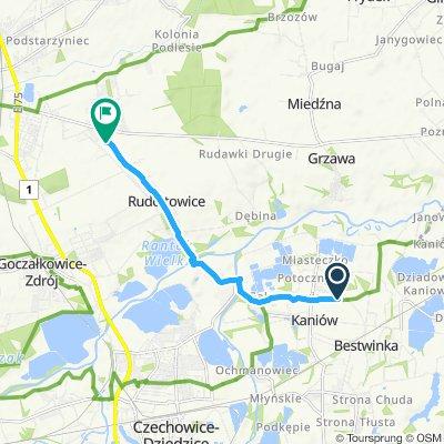 Snail-like route in Ćwiklice