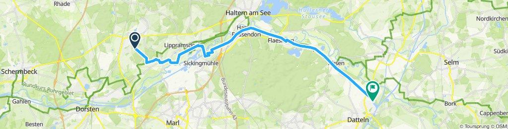 1 a) Fahrt von Wulfen nach Datteln