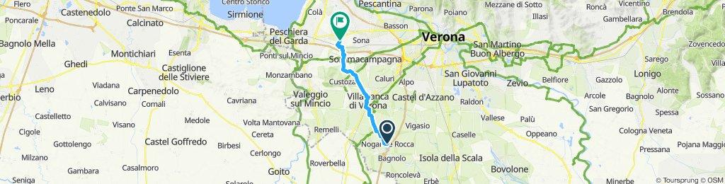 Giro a velocità costante in Nogarole Rocca