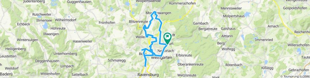 Route im Schneckentempo in Baienfurt