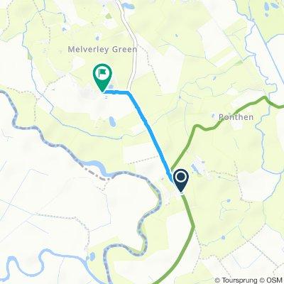 Snail-like route in Oswestry