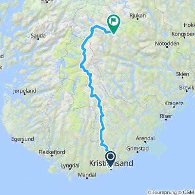 Nasjonal sykkelrute 3, Kristiansand - Setesdal - Haukeli
