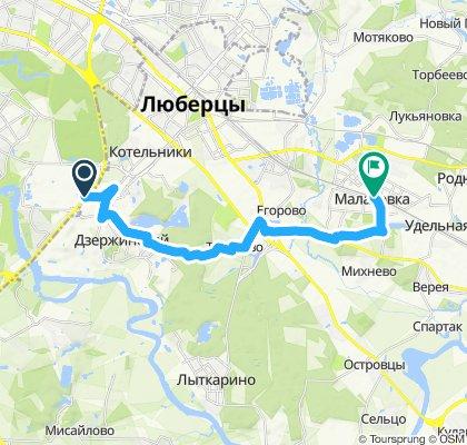 Велокурьерские ездки Юго-Восток Области: Дзержинский -> Малаховка 15 08 2019