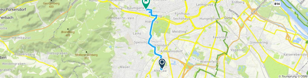 Langsame Fahrt in Wien