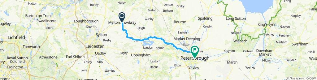 Melton Mowbray to Peterborough