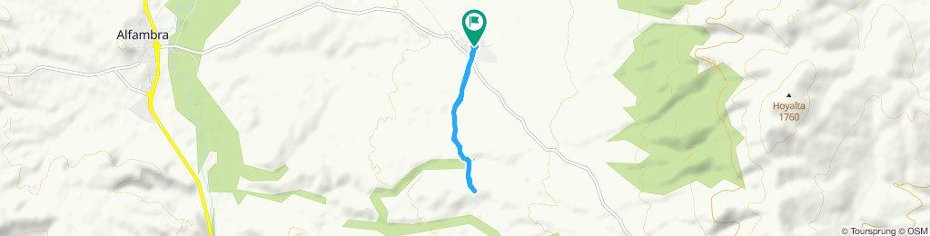 Paseo rápido en Escorihuela
