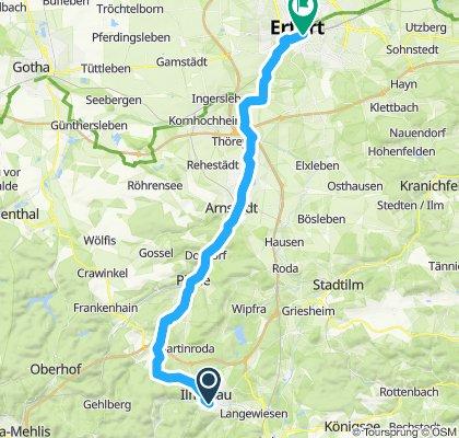 Ilmenau-Erfurt via Elgersburg