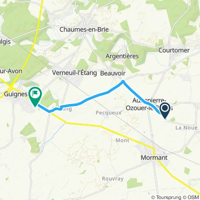 Route im Schneckentempo in Guignes