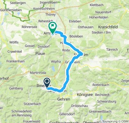 Ilmenau - Arnstadt via Stadtilm
