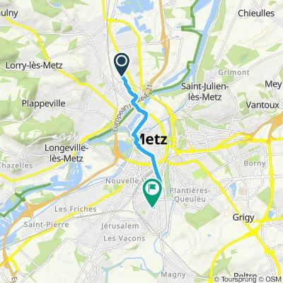 Itinéraire modéré en Metz